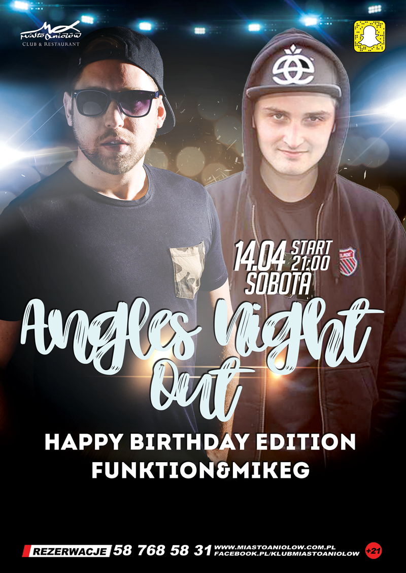 Angels Night Out – Funktion & Mike G - Happy Birthday